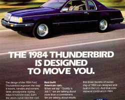 1984 ford thunderbird ad