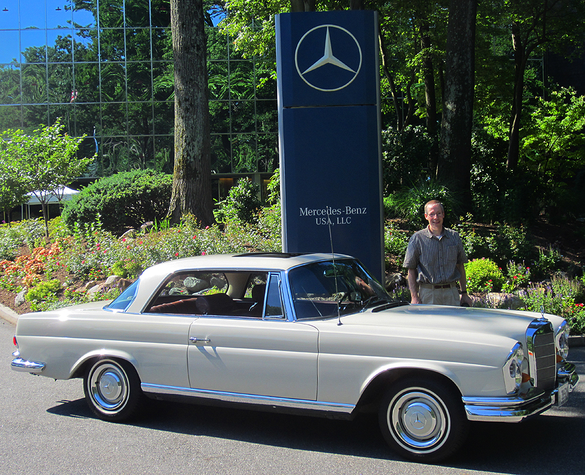 1967 mercedes benz 250se coupe at 2012 june jamboree in for Mercedes benz montvale nj