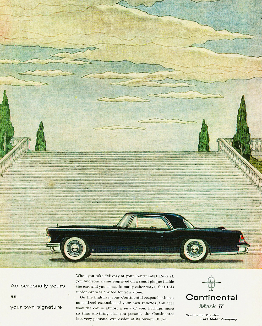 1956 lincoln continental mark ii ad classic cars today. Black Bedroom Furniture Sets. Home Design Ideas