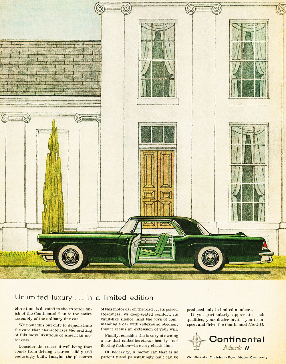 1956 Lincoln Continental Mark II ad | CLASSIC CARS TODAY ONLINE