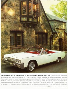 1964 lincoln continental ad classic cars today online. Black Bedroom Furniture Sets. Home Design Ideas