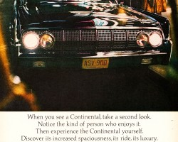 1964 lincoln continental ad