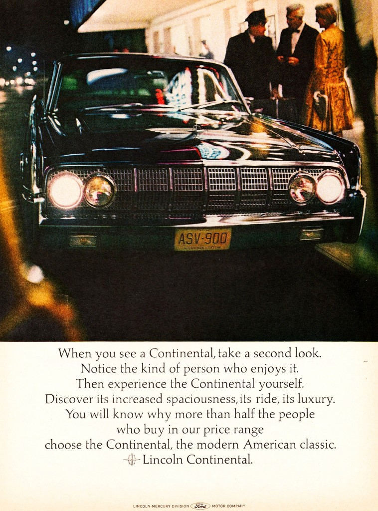 1964 Lincoln Continental Ad Classic Cars Today Online