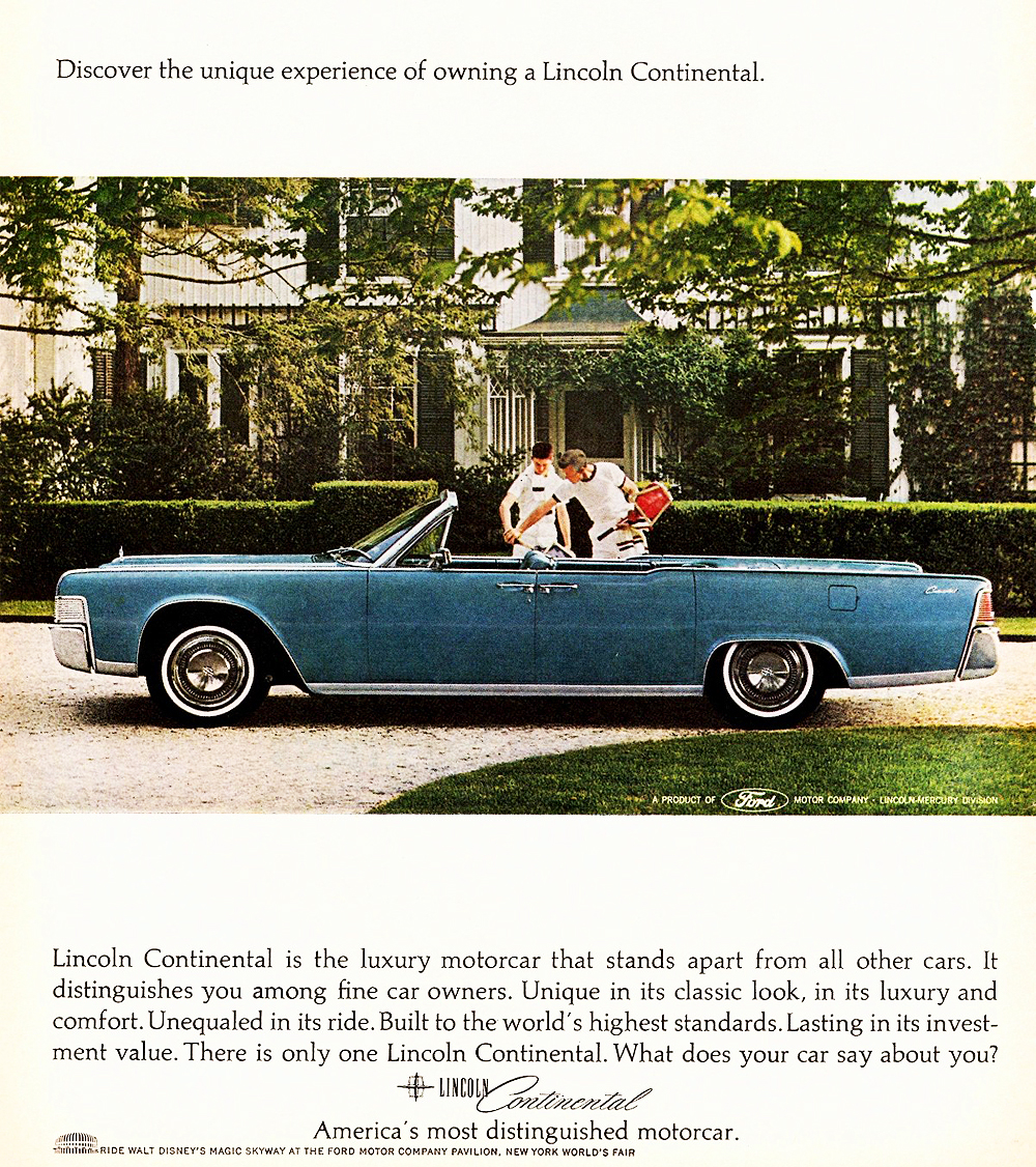 1965 lincoln continental ad classic cars today online. Black Bedroom Furniture Sets. Home Design Ideas