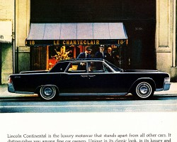 1965 lincoln continental ad