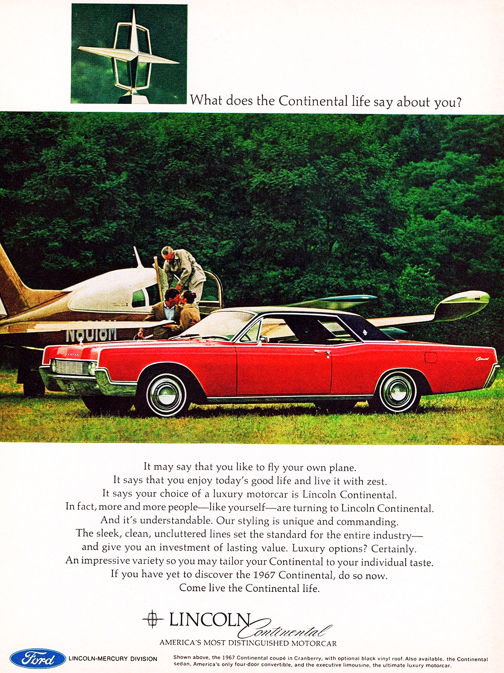 1967 lincoln continental ad classic cars today online. Black Bedroom Furniture Sets. Home Design Ideas