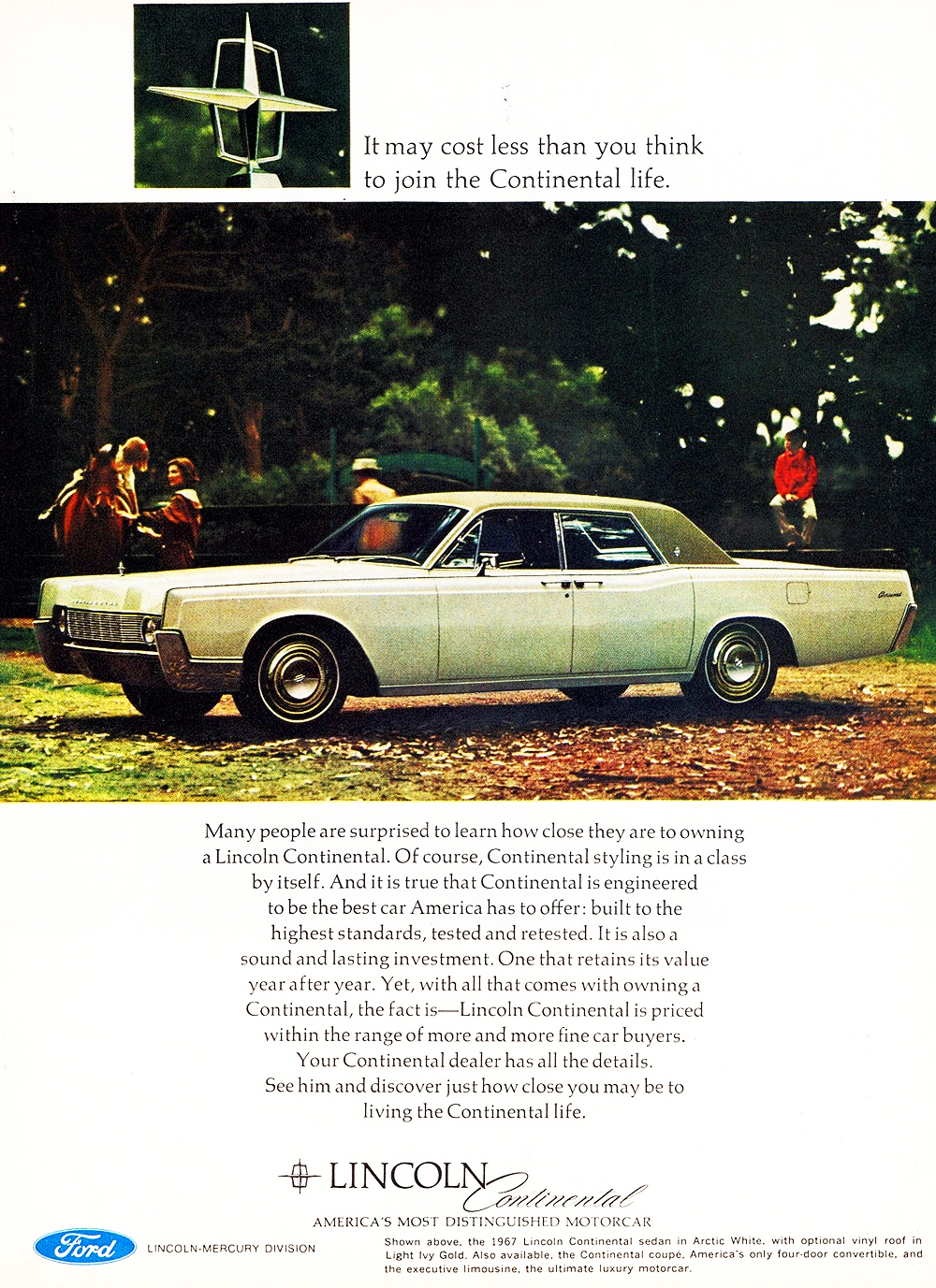 1967 Lincoln Continental Ad Classic Cars Today Online
