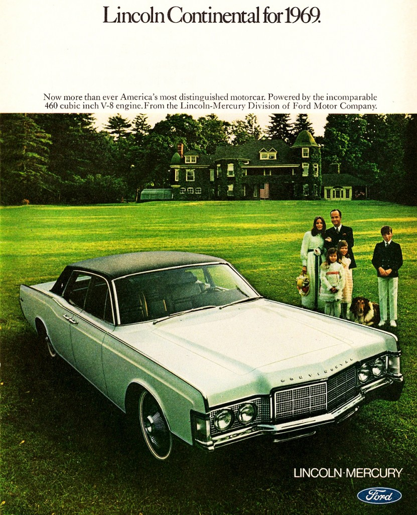 1969 lincoln continental ad classic cars today online. Black Bedroom Furniture Sets. Home Design Ideas