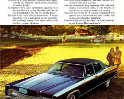 1970 lincoln continental ad