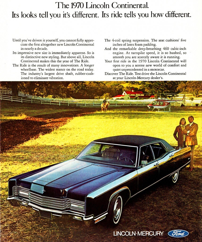 1970 lincoln continental ad classic cars today online. Black Bedroom Furniture Sets. Home Design Ideas