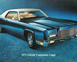 1971 lincoln continental ad