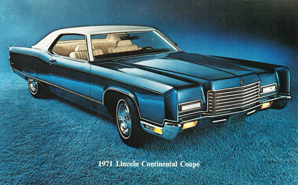 1971 lincoln mark iii promotional picture 1972 lincoln continental ...