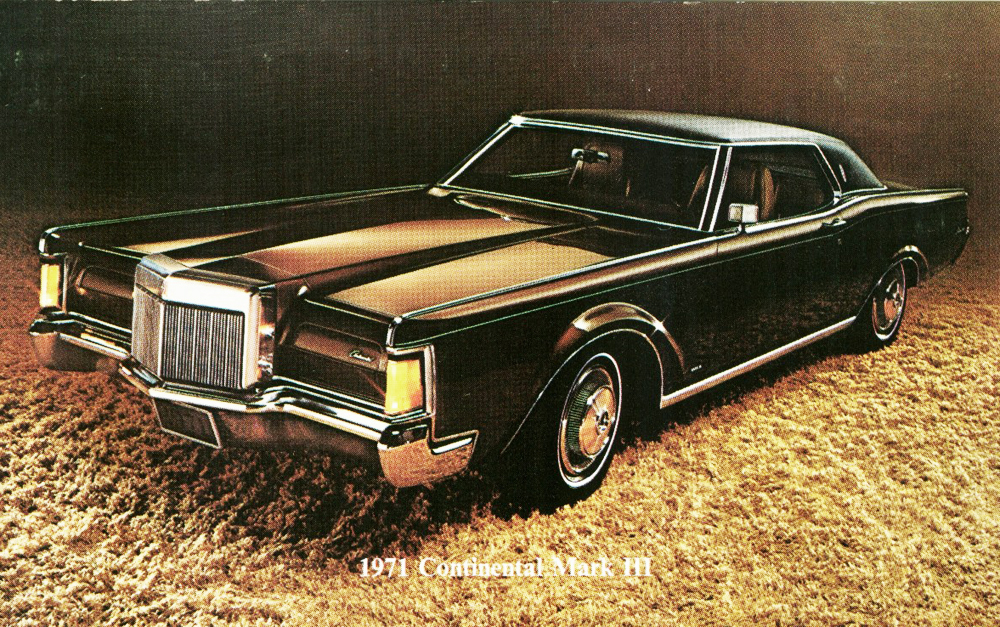 1971 lincoln mark iii promotional picture classic cars today online. Black Bedroom Furniture Sets. Home Design Ideas