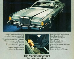 1973 lincoln mark iv ad