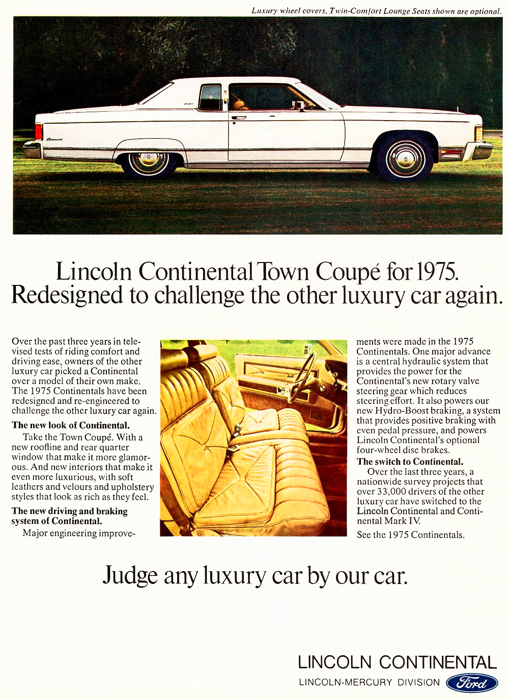 1975 Lincoln Continental coupe ad | CLASSIC CARS TODAY ONLINE
