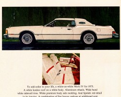 1975 lincoln mark iv ad