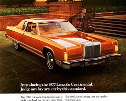 1977 lincoln continental ad