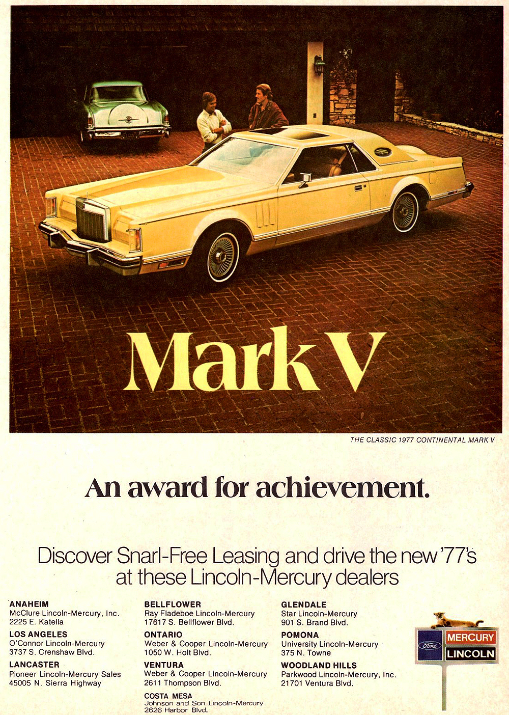 1977 Lincoln Mark V Ad Classic Cars Today Online