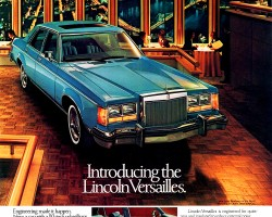 1977 lincoln versailles ad