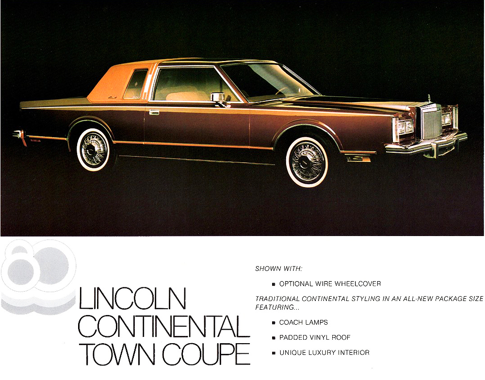 1980 Lincoln Continental Coupe Ad Classic Cars Today Online