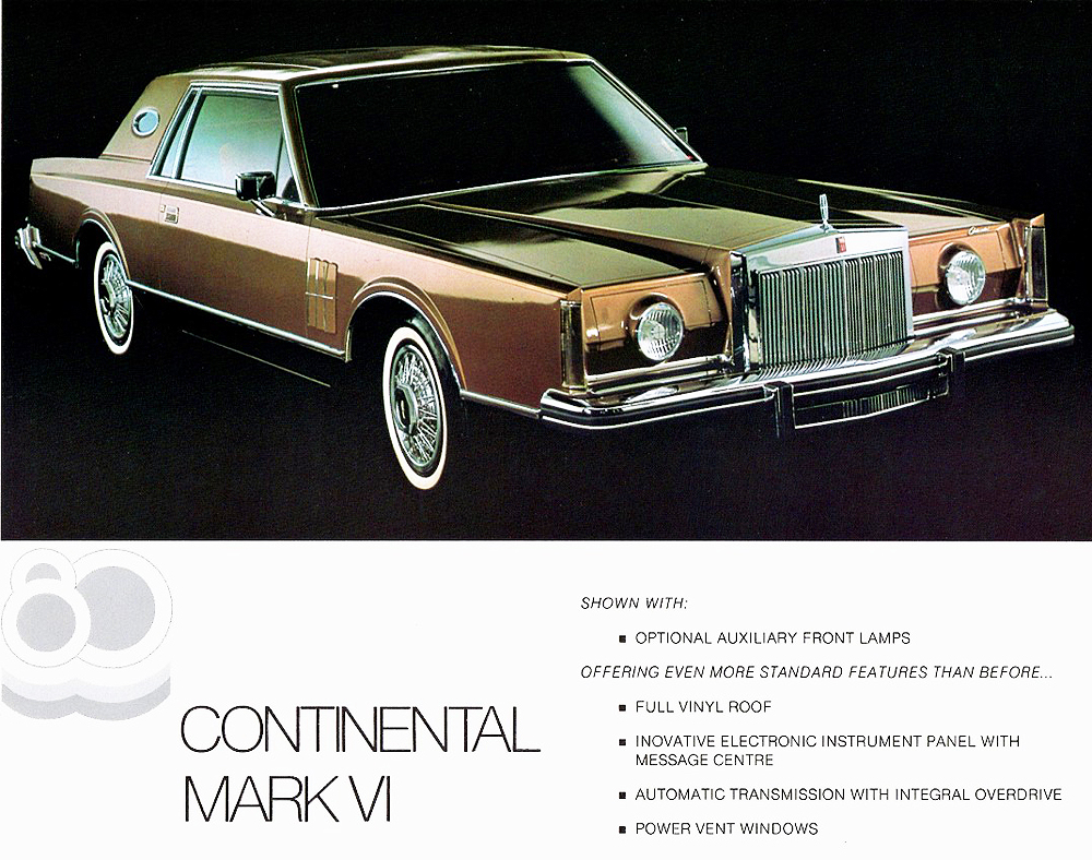 1980 lincoln mark vi promotional picture classic cars today online. Black Bedroom Furniture Sets. Home Design Ideas