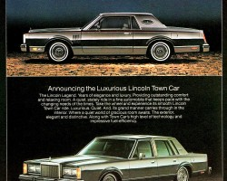 1982 lincoln town car ad
