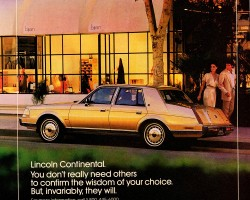 1986 lincoln continental ad