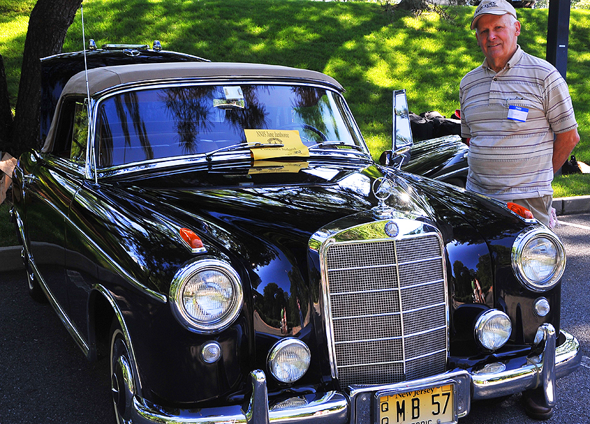 1957 Mercedes 220S Cabriolet owned by Hans Karl.  (Photo credit: Carl Schwartz)