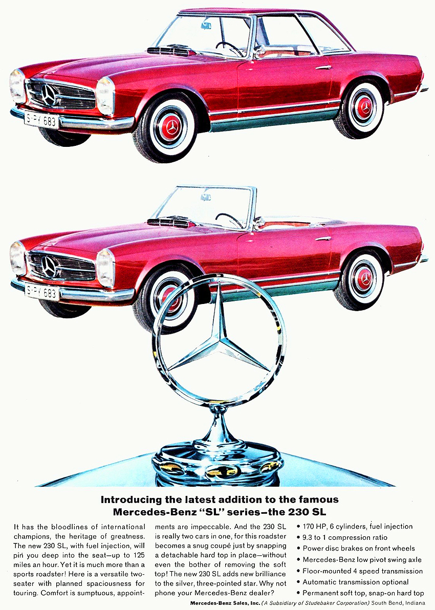 1964 mercedes benz 230sl classic cars today online for Comercial mercedes benz