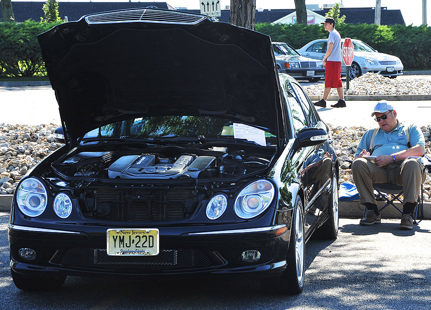 2003 Mercedes E55 AMG owned by Rocky Miranti.  (Photo credit: Carl Schwartz)