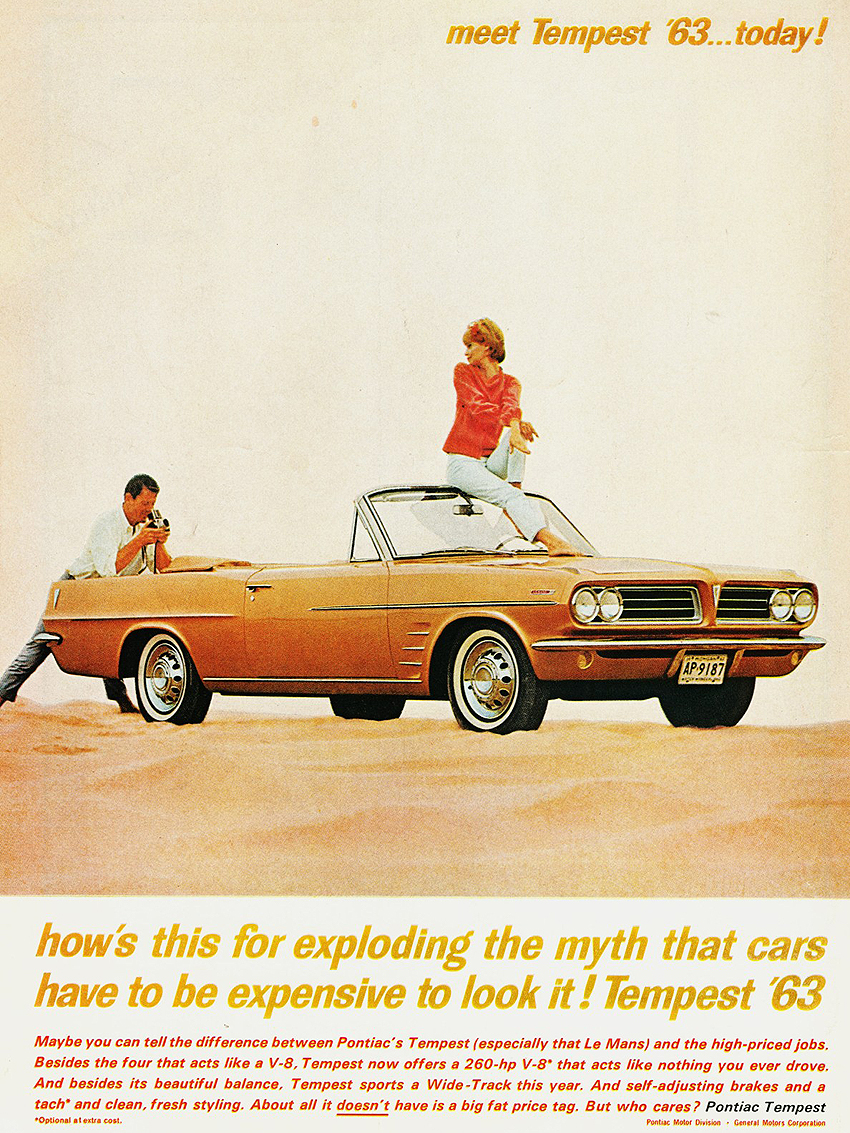 1963 Pontiac Tempest Ad Classic Cars Today Online