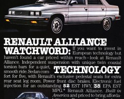 1984 renault alliance ad