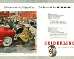1950s Seiberling Tires ad