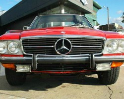 red 1972 mercedes 350SL