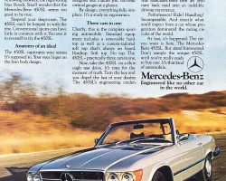 This 1976 advertisement warned not to test drive a 450SL unless fully prepared to buy one. It was that kind of car in '76, and it remains so today.
