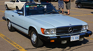 Mercedes 1976 450SL blue b 300