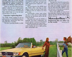 1977 was the last model year color-matched wheel covers were equipped on U.S. market SLs  (in other countries, they remained through 1985)