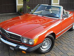 Mercedes 1982 380SL red small