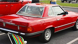 small Mercedes 1985 380SL red b 300