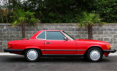 Mercedes 1986 560SL red d small