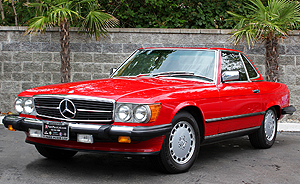 Mercedes 1986 560SL red smallg