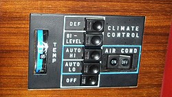 Automatic climate controls first appeared in this form on 1978-81 SLs.