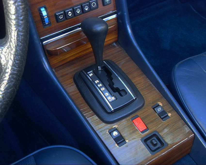 "107-body gear shift selectors read ""D-S-L"" until this style on 1983-85 models had a ""D-3-2-1"" detent."