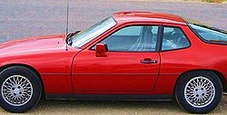 This 1980 Porsche 924 Turbo shows 15-inch wheels and rear spoiler unique to this model.