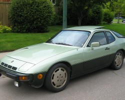 For 1980, a Sport Package was introduced with 16-inch aluminum wheels and two-tone paint as seen on this 924 Turbo.  Air intake slots directly above the front bumper and an air scoop on the passenger side of the hood differentiate all 1980-81 Turbos.  (Photo credit: J. Armstrong)
