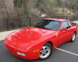 The 1983 - 1991 Porsche 944, and subsequent 1992-1995 Porsche 968 models were built off the same platform as the 924.  As this 1986 944 Turbo shows, styling was clearly derivative.
