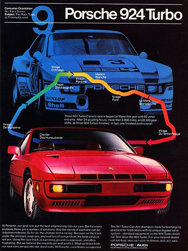 1981 Porsche 924 Turbo advertisement.