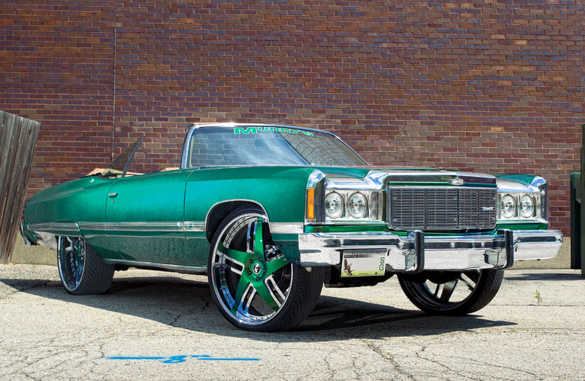 (DONK)  1974 Chevrolet Caprice convertible.