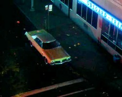 """Sam's car appearing in another of his early movies, """"CrimeWave"""" (1985)."""