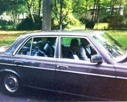 Here, on the morning of my wedding day in October 1995, the 300D transports myself and three groomsmen clad in tuxes doing last minute planning of the best man's speech on the way.